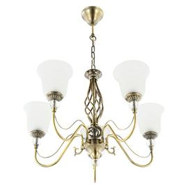 image-Eliana 5-Light Shaded Chandelier Rosalind Wheeler