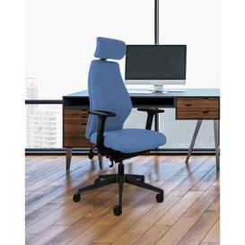 image-Lehr Ergonomic Desk Chair Ebern Designs Upholstery Colour: Denim Blue
