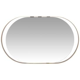 image-Oval gold metal mirror 27x45cm