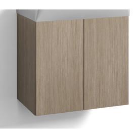 image-Kubiak 55cm Wall Mounted Vanity Unit Base Mercury Row Base Finish: Light Oak
