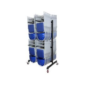 image-High Hanging Chair Transport Trolleys, Black, Free Standard Delivery