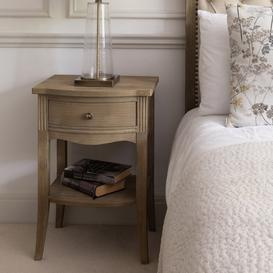 image-Wooden Single Draw Bedside Table