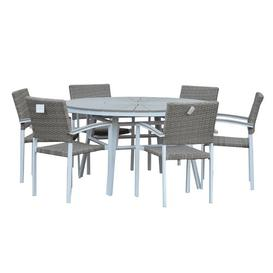image-Ilya 6 Seater Dining Set Dakota Fields