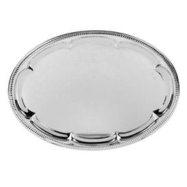 image-Effect Mirror Polished Oval Etched Serving Tray Symple Stuff