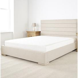 image-Attleboro Upholstered Bed Frame Brayden Studio Size: Small Double (4'), Upholstery Colour: Cream