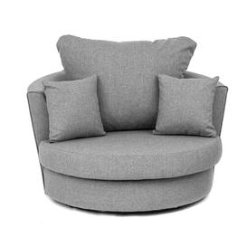 image-Drayton Swivel Tub Chair Ebern Designs Upholstery Colour: Grey