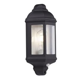 image-Searchlight 280BK-PIR Outdoor Wall Light In Black With Built In PIR