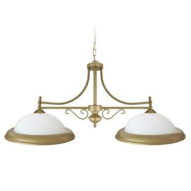image-Irinna 2-Light Kitchen Island Dome Pendant Rosalind Wheeler Shade Colour: White/Gold
