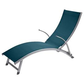 image-Humera Reclining Sun Lounger Sol 72 Outdoor Colour (Textile): Dark Blue
