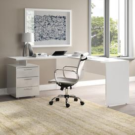 image-Emilia L-Shape Executive Desk Wade Logan