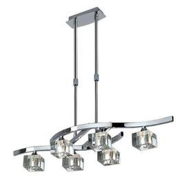 image-M2357 Cuadrax 6 Light Chrome Ceiling Semi-Flush Lamp