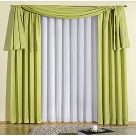 image-Longoria Tab top Room Darkening Single Curtain Mercury Row Size: 245cm L x 135cm W, Colour: Green