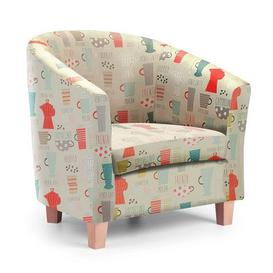 image-Americano Tub Chair - Multicoloured Cream