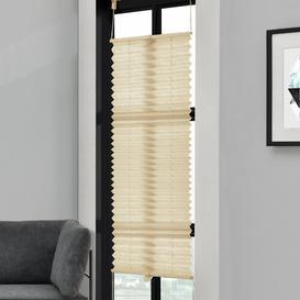 image-Symple Stuff Semi-Sheer Pleated Blind Symple Stuff Colour: Cream, Size: 100cm L x 60cm W