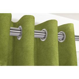 """image-Matt Lime Green Velvet Curtains, 405cm(w) x 137cm(d) (159"""" x 54"""")"""