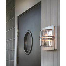 image-Parrott 1 Light Outdoor Flush Mount Sol 72 Outdoor Fixture Finish: Galvanized Steel, Shade Finish: Clear