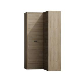 image-Naswith Corner Wardrobe Mercury Row Colour: Powerful grey