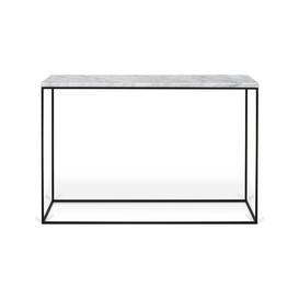 image-Duell Console Table Ebern Designs Colour (Table Base): Black, Colour (Table Top): Black, Size: 76 H x 119 W x 41 D cm