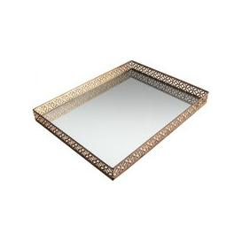 image-Gallery Direct Motitz Aged Tray Champagne Rectangular Mirror