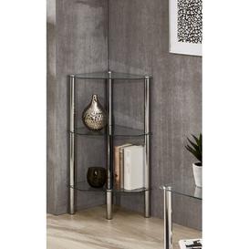 image-Suni Corner Bookcase House Additions Finish: Chrome