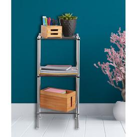 image-33 x 72cm Free Standing Bathroom Shelf Symple Stuff
