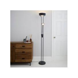 image-Father and Child 2 Arm Grey Floor Lamp Grey