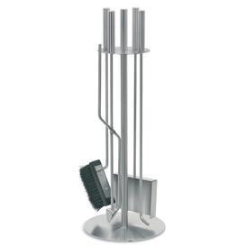 image-Chimo 5 Piece Stainless Steel Fireplace Tool Set Blomus