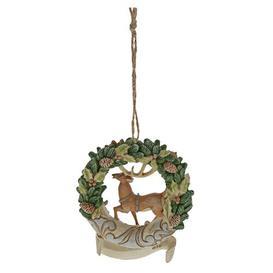 image-Woodland Wreath Hanging Figurine Ornament Heartwood Creek
