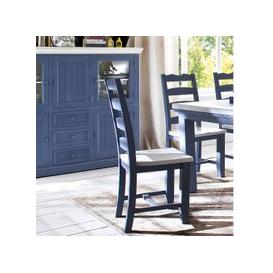 image-Falcon Dining Chair In Blue And White Pine