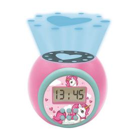 image-Lexibook Unicorn Childrens Projector Clock with Timer