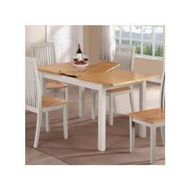image-Hart Wooden Extending Dining Table In Stone Painted Finish