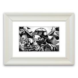 image-'Spray Can Kid' Framed Graphic Art East Urban Home Size: 93 cm H x 70 cm W, Frame Options: White