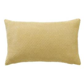 image-Chenille Spot Rectangular Cushion Yellow