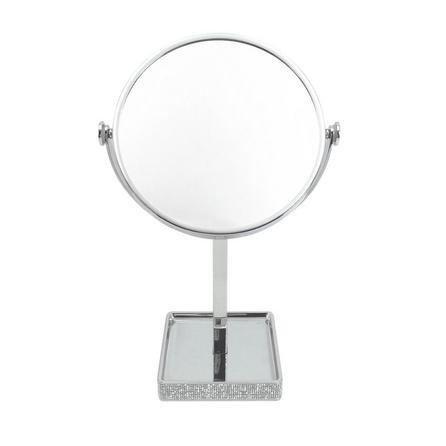 image-Diamante Pedestal Mirror Chrome