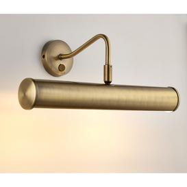 image-1 Light Wall Mounted Picture Light Marlow Home Co. Size: 18 cm H x 33.5 cm D, Finish: Antique Brass