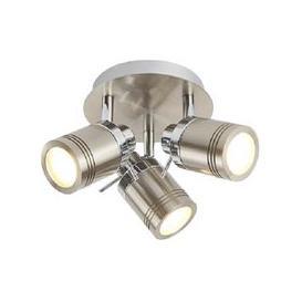 image-Striking Three Light Satin Silver Bathroom Spot Plate