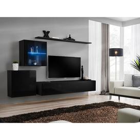 image-Brittani Switch XV Entertainment Unit Metro Lane Colour: Black/Black High Gloss