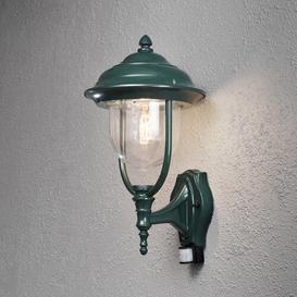 image-Parma Modern Up 1 Light Outdoor Wall Lantern with Motion Sensor Konstsmide Finish: Green