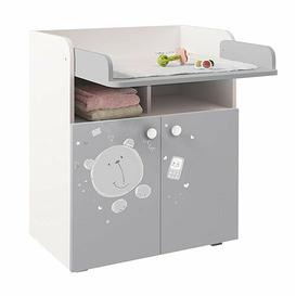 image-Aarav Changing Table HoneyBee Nursery Colour: White/Grey