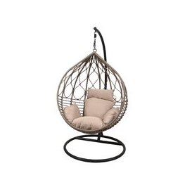 image-LG Outdoor Marseille Rattan Weave Hanging Garden Egg Chair