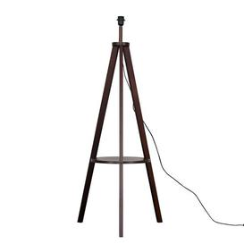 image-Silberman Morrigan 130cm Tripod Floor Lamp Base Mercury Row Base Finish: Dark Wood