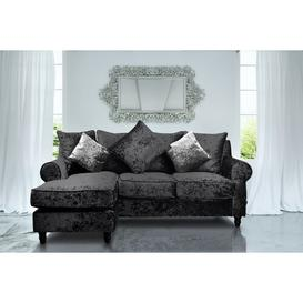 image-Annora Reversible Modular Corner Sofa Willa Arlo Interiors Upholstery Colour: Black