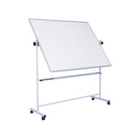 image-Non-Magnetic Mobile Swivel Writing Board, White, Free Standard Delivery