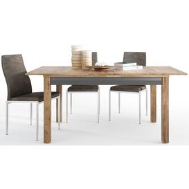 image-Havana Extending Dining Table and 4 Milan Dark Brown Chairs - Oak and Black
