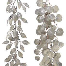 image-A by AMARA Christmas - Glitter Leaf Garland - Set of 2 - Champagne