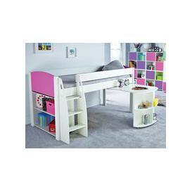 image-Stompa UnoS 8 Mid Sleeper Desk + Bookcase