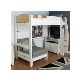 image-Urban Birch High Sleeper 3 Bed in White & Birch