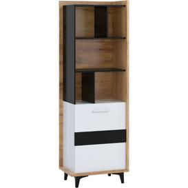 image-Swanley Bookcase Ebern Designs Colour (Body/Front): Golden Craft/White
