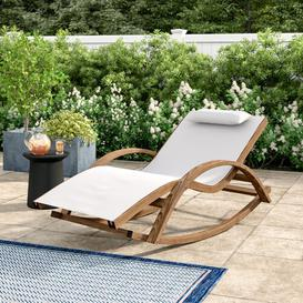 image-Senter Rocking Chair with Cushions Sol 72 Outdoor Colour: White
