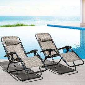 image-Gostkowski Reclining Sun Lounger Set Sol 72 Outdoor Colour: Grey